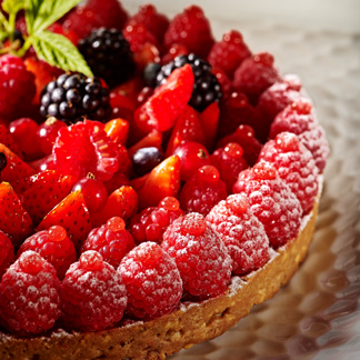 Tarte folle vanille et fruits rouges